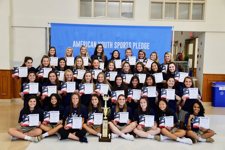 WCAC Champion Field Hockey team met with the National Fitness Foundation (NFF) in support of their National Endowment for Youth Sports program.