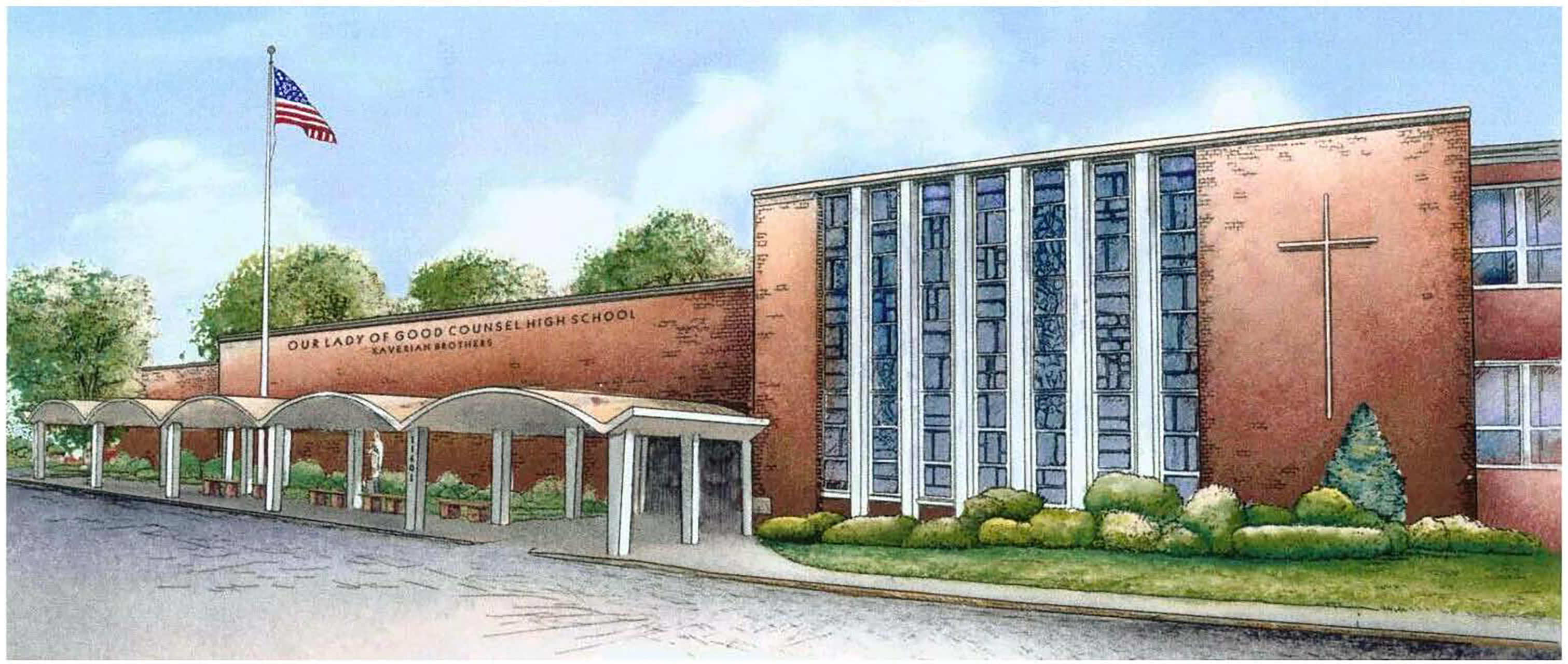 Good Counsel Wheaton campus sketch