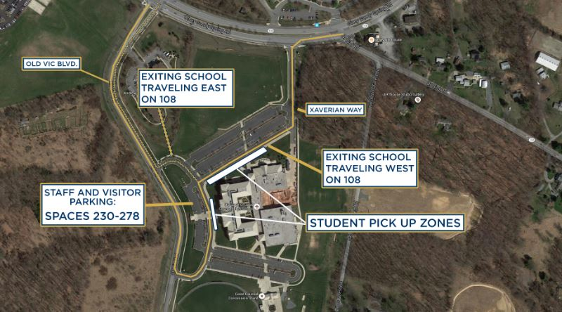 Student Drop off and pick up map