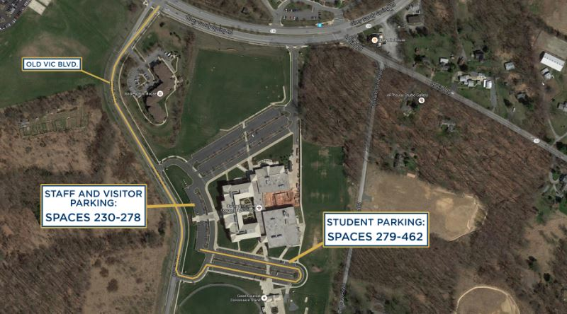 Students, faculty, staff south parking map