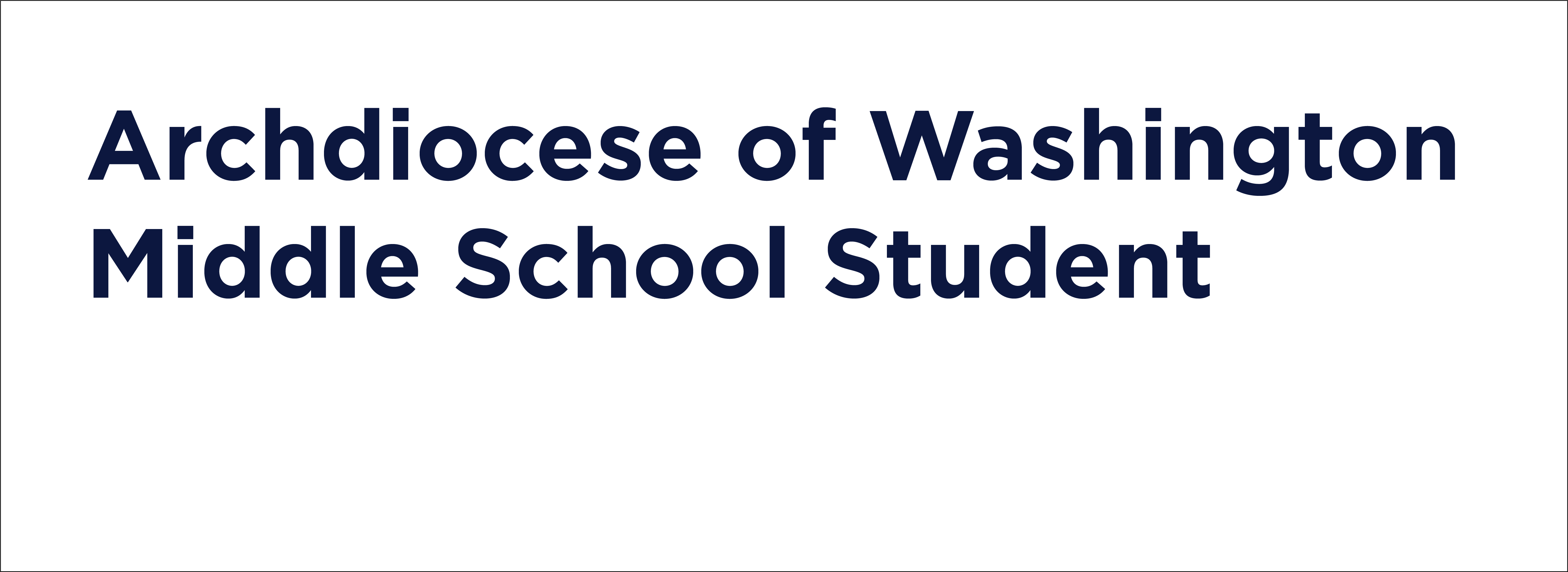 archdiocese of washington middle school student image