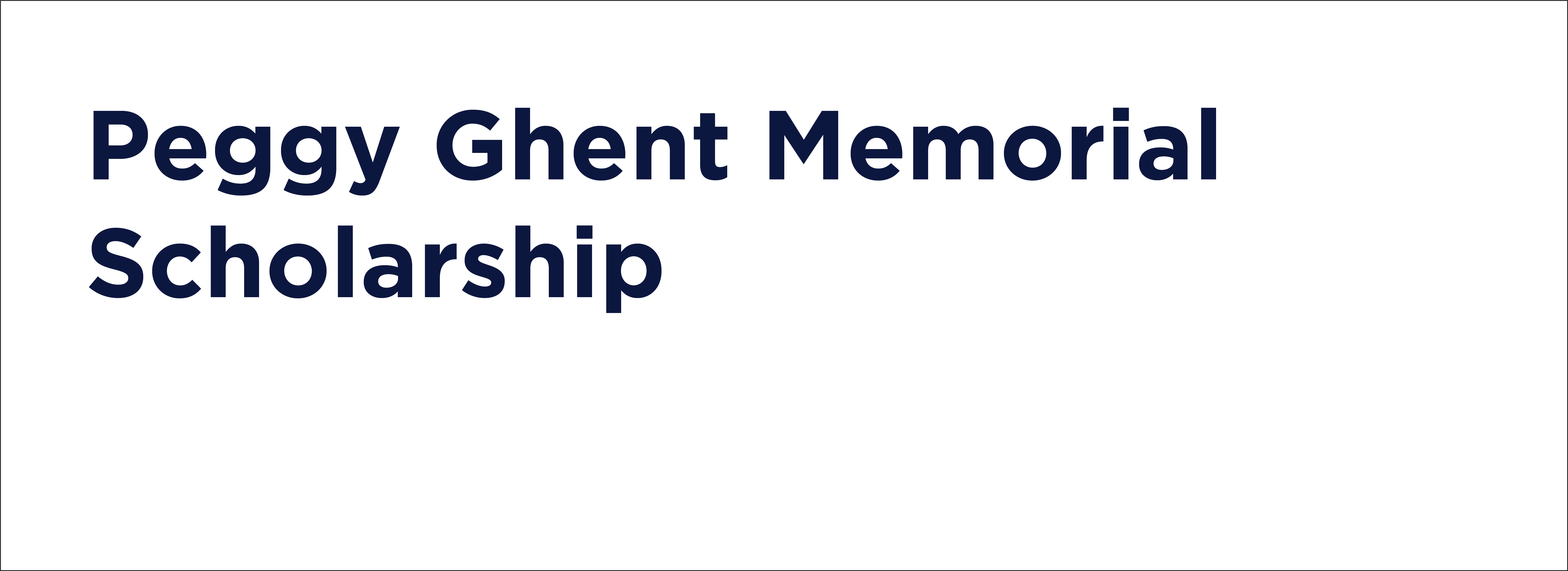 ghent memorial scholarship text
