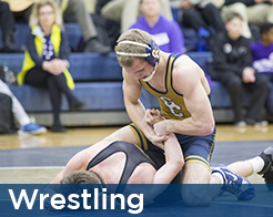 Good counsel wrestler pinning
