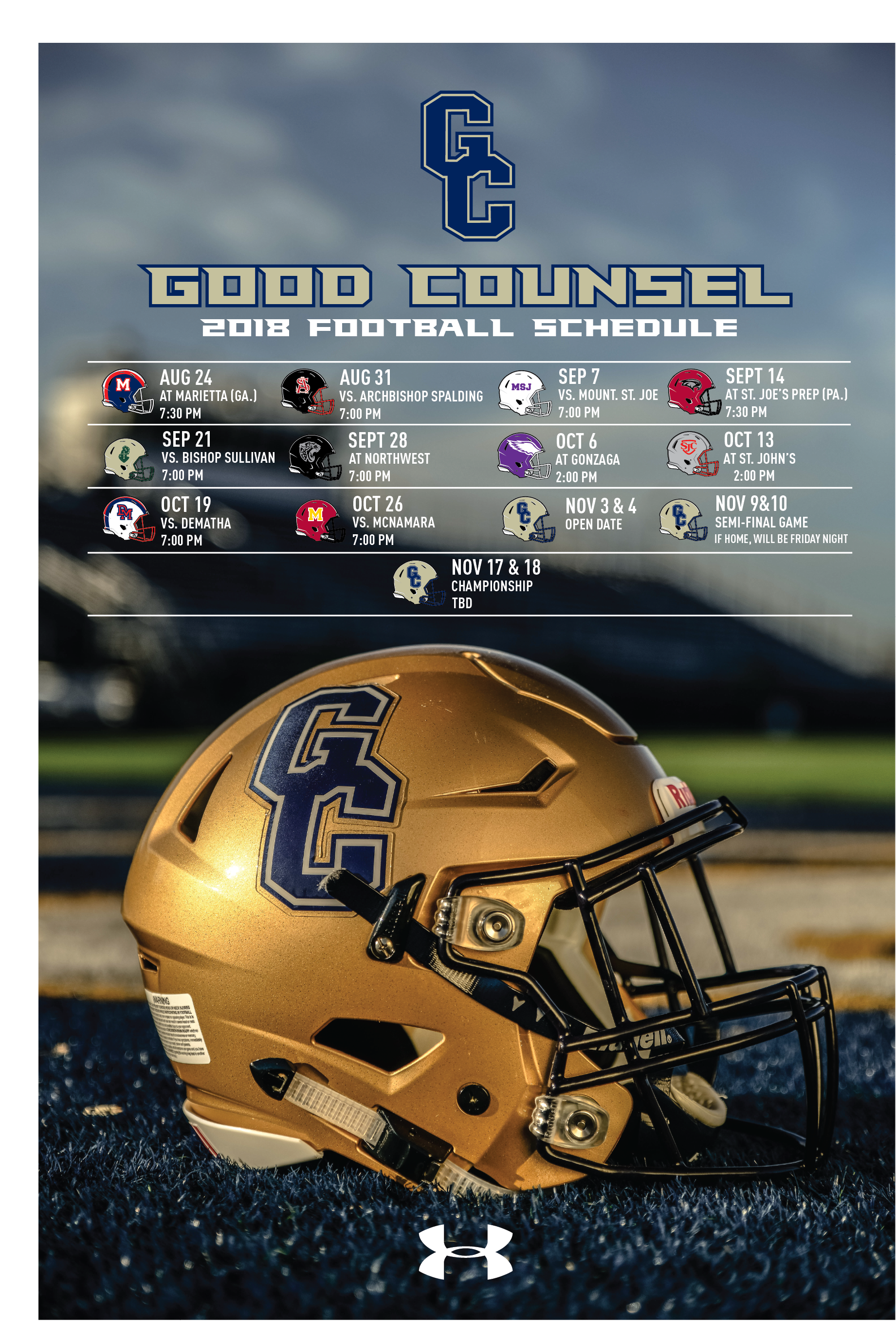 Football Our Lady Of Good Counsel High School Olney Md