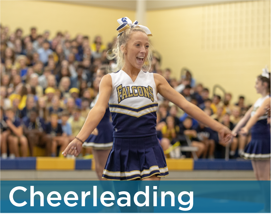 Good Counsel Cheerleader cheering