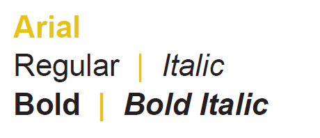 arial font graphic