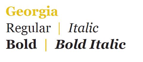 Georgia font graphic