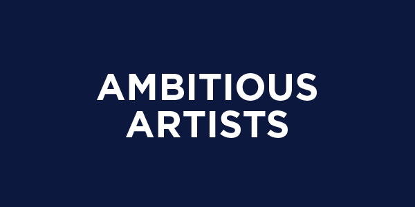 Ambitious artists button